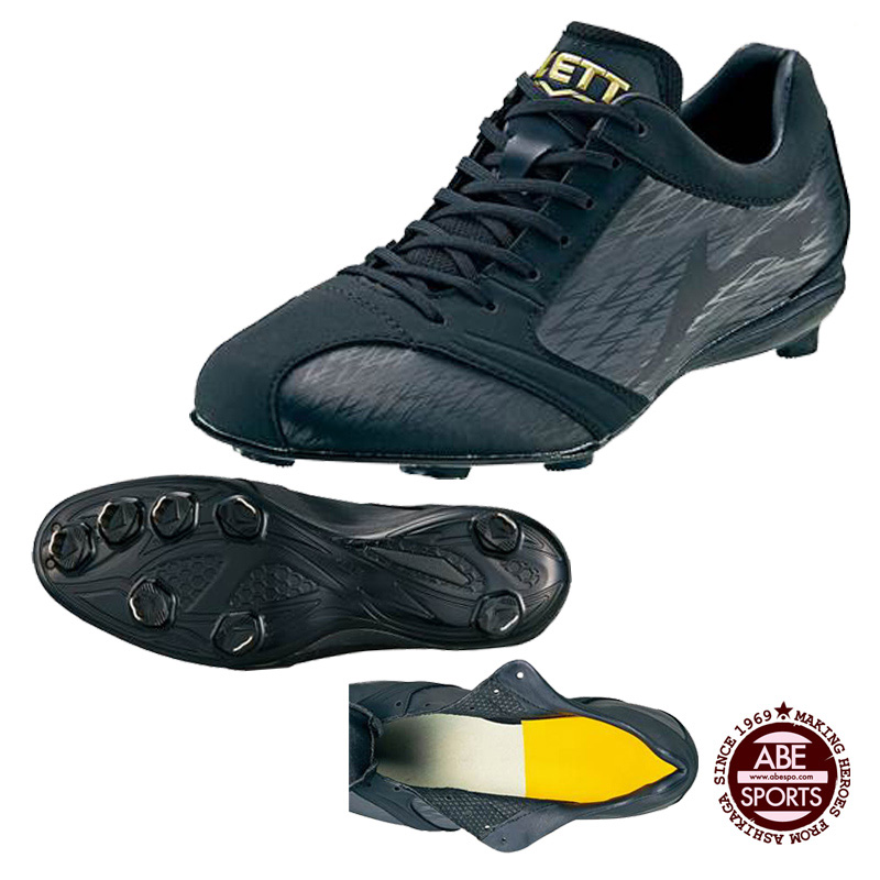 【ゼット】埋め込みスパイク/スーパーグランドジャック 野球スパイク/スパイク 野球/野球用品/BASEBALL/ZETT (BSR2786) 1919 ブラック×ブラック