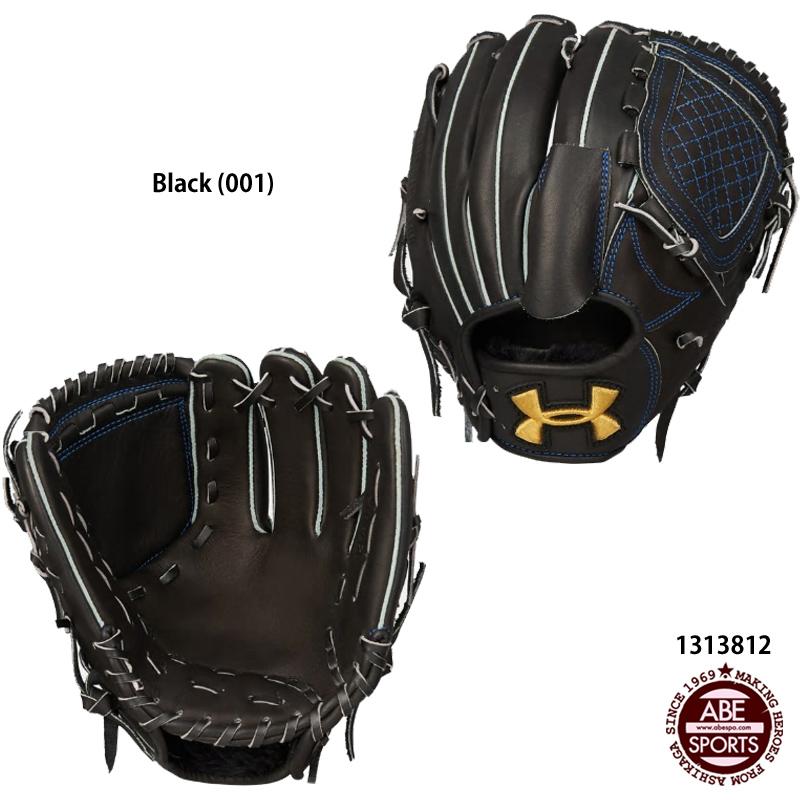 【アンダーアーマー】UA BL RB PITCHER GLOVE(R) 投手用/軟式グローブ/野球 軟式 グローブ/UNDER ARMOUR (1313812) 001 BLACK