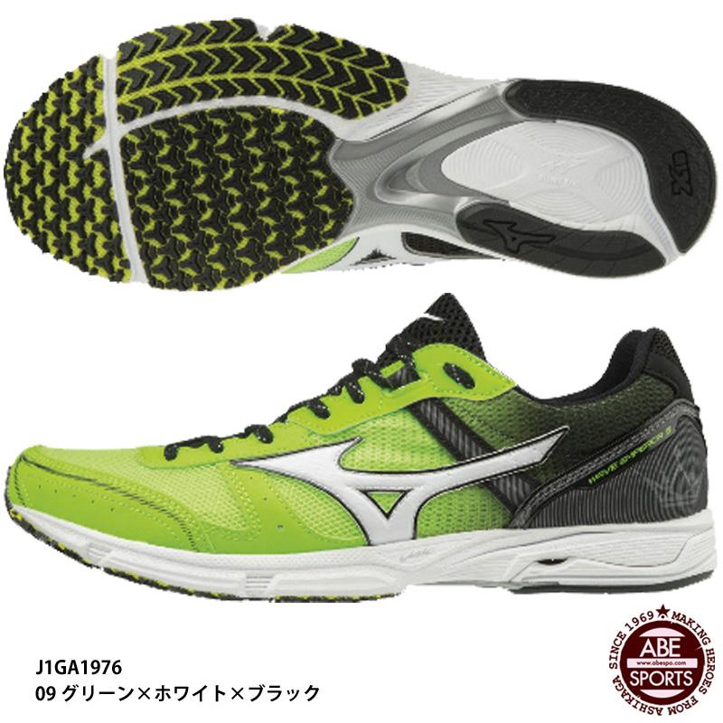 【ミズノ】WAVE EMPEROR 3 ウェーブエンペラー/マラソンシューズ/ランニングシューズ/MIZUNO(J1GA1976) 09 グリーン×ホワイト×ブラック