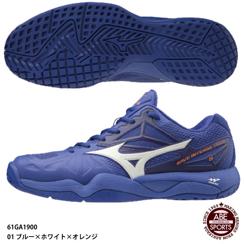 【ミズノ】ウエーブインテンス TOUR 5 AC メンズ/オールコート/テニスシューズ/mizuno (61GA1900)01 ブルー×ホワイト×オレンジ