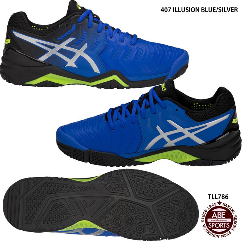 【アシックス】GEL-RESOLUTION 7 OC ゲルレゾリューション/テニスシューズ/オムニ・クレーコート兼用/asics (TLL786) 407 ILLUSION BLUE/SILVER