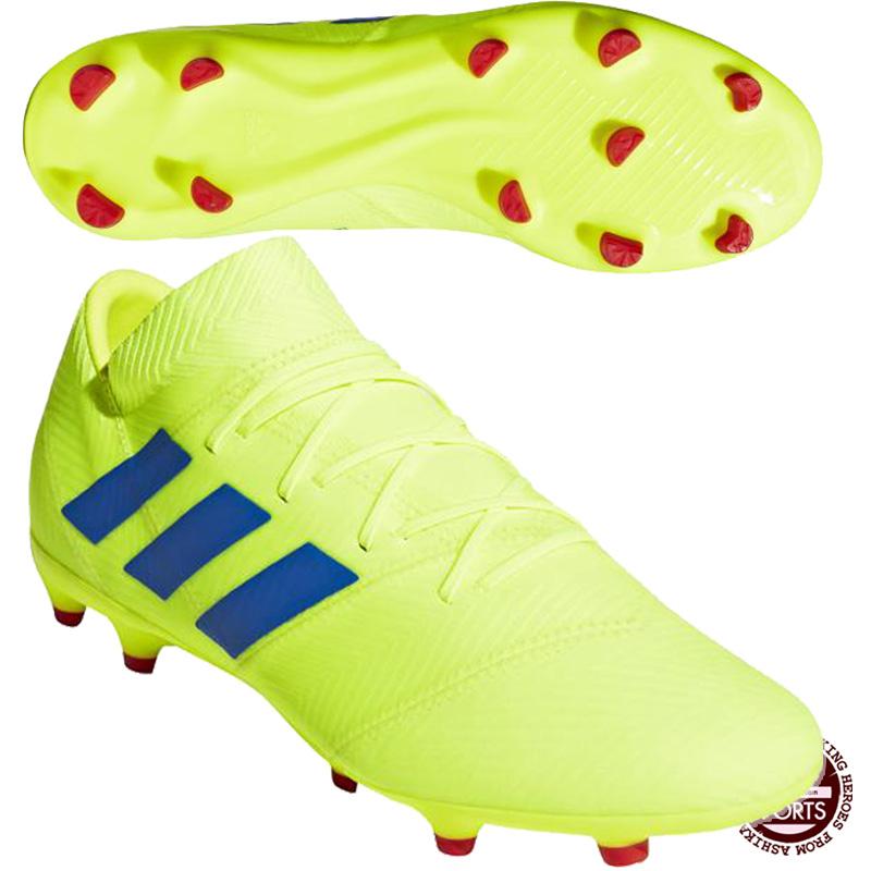 【アディダス】 ネメシス 18.2 FG/AG サッカースパイク/アディダス スパイク/adidas (BTG27) BB9431 ソーラーイエロー/フットボールブルー/アクティブレッドS19