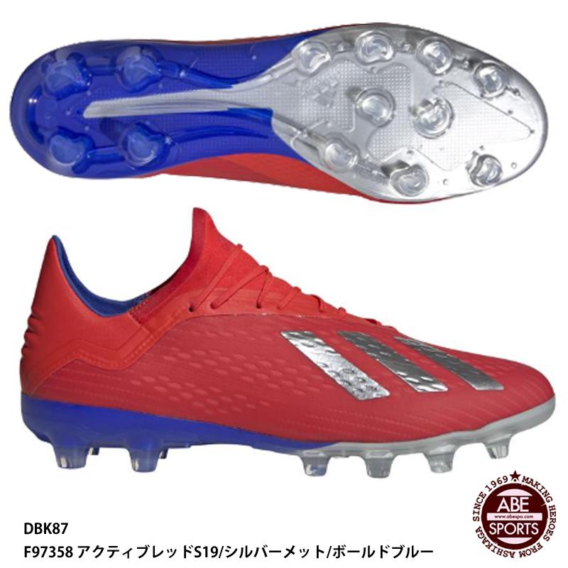 【アディダス】エックス 18.2-ジャパン HG/AG サッカースパイク/アディダス スパイク/シューズ アディダス/adidas (DBK87) F97358