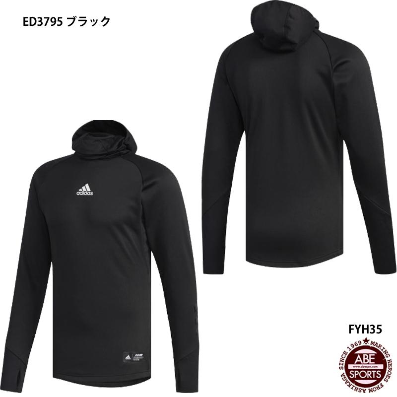 ネコポス選択可【アディダス】5T フーデッドインナー 野球ウェアアディダス/アディダス ウェア/adidas (FYH35) ED3795 ブラック
