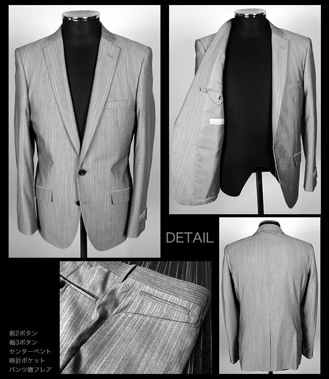SHINEY DRESS SUIT お兄系 モテスーツ/ スタイリッシュ ナローライン セクシーな 光沢感★シャイニー ドレススーツ/ AC116981