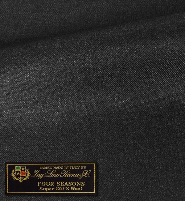 オーダースーツ [ブランド] LORO PIANA ロロピアーナ / FOUR SEASONS [色] チャコールグレー(濃いめのグレー) [柄] 無地 [品質] スーパー130'S ウール100% woven in Italy [イタリア生地][秋冬向け][送料無料]