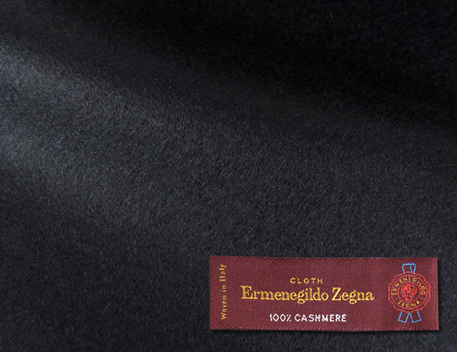 オーダーメイドコート [生地の銘柄] Ermenegildo Zegna [色] ネイビー(濃紺) [柄] 無地 [品質] カシミア100% , 360gr. woven in Italy. [秋冬向け][送料無料]