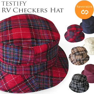 a74c1f5d5fe Bespoke Label ABE Tailor  Reversible check print Hat RV Checkers Hat ...