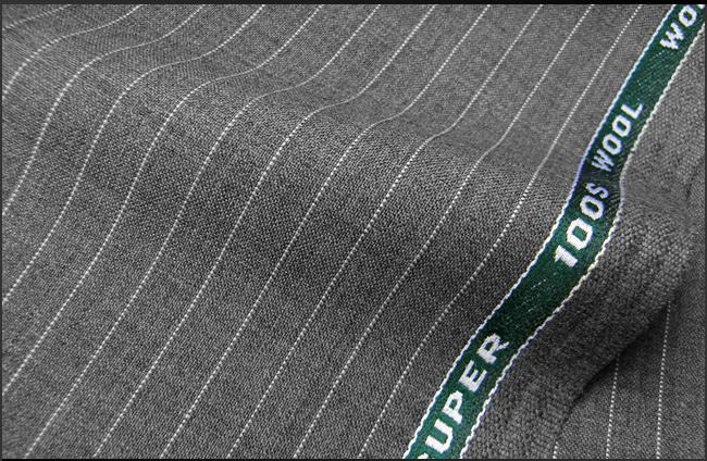 オーダースーツ [ブランド] CARVEN カルバン [色] ミィディアムグレー [柄] ストライプ [品質] スーパー100's ウール92% , ポリエステル8% [フランス-パリブランド][春夏向け]02P06May15 fs04gm