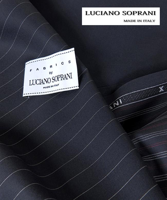 上質感と上品さをベースにミラノファッションの全盛期を築いた高級 生地ビジネススーツ オーダースーツ LUCIANO SOPRANI オーダーメイドスーツ in Italy オーダーメードスーツwoven 誕生日/お祝い 春夏向け イタリア生地 在庫一掃 送料無料