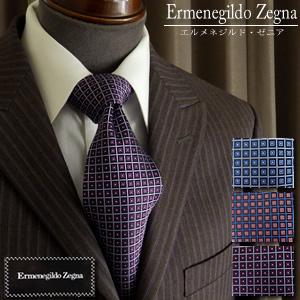 シルクネクタイ Ermenegild Zegna ゼニア スクエア 刺繍柄イタリア製 小紋 総柄【02P03Dec16】 fs04gm