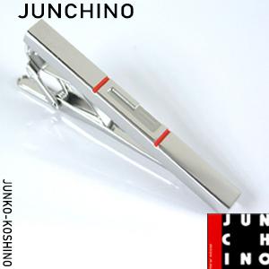 JUNCHINO(JUNKO KOSHINO/ジュンココシノ) タイバー ロゴデザイン シルバー×オレンジ