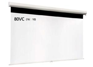 【納期:問い合せ】IZUMI スプリングロール式マグネットスクリーン 80インチ IS-WOL80VC