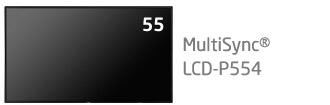 NEC 55型 パブリック液晶ディスプレイ MultiSync LCD-P554