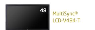 【納期:問い合せ】NEC 大画面液晶ディスプレイ 高耐久 タッチパネルモデル V-Tシリーズ 48型 MultiSync LCD-V484-T