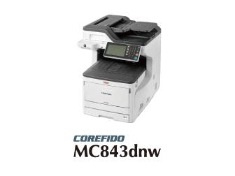 OKI カラーLED複合機 A3対応 COREFIDO3 (FAX無しタイプ) <MC843dnw> 【代引不可】