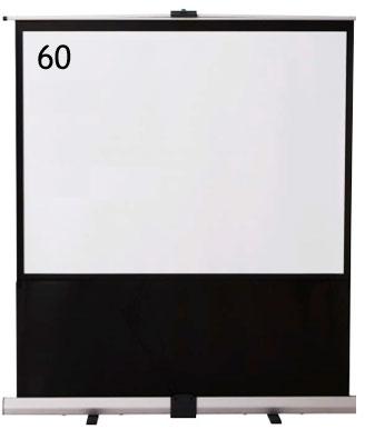 IZUMI 床置・自立式 60インチスクリーン<RS-60> 【代引不可】