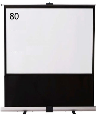 IZUMI 床置・自立式 80インチスクリーン<RS-80> 【代引不可】