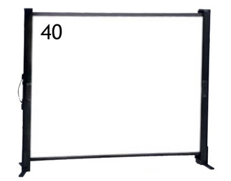 IZUMI/テーブル自立式/40インチスクリーン <TP-40>
