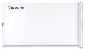 IZUMI ケース一体型 60インチ マグネットスクリーン WOL-GX60V