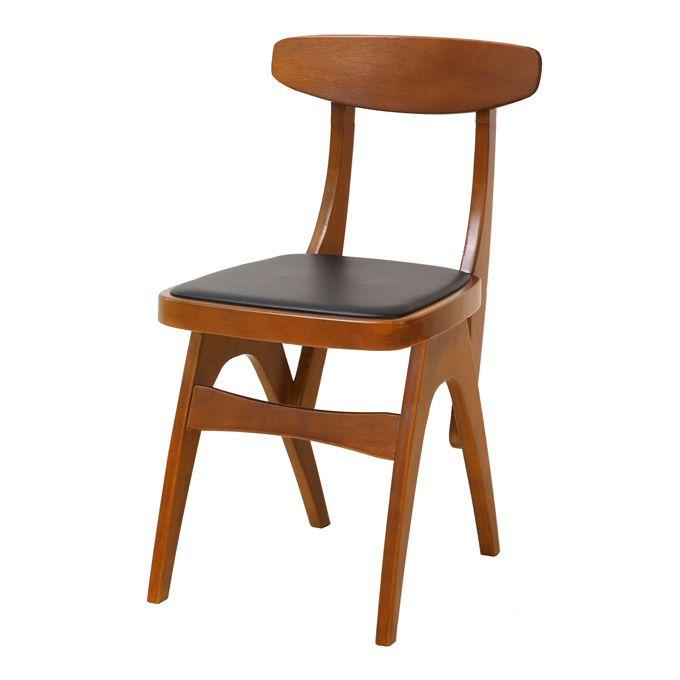 チェア 椅子 イス 腰掛 ダイニング デスク ワーク 勉強 コンパクト 木製 天然木 合皮 レトロ カントリー 完成品 クラシカル シンプル カフェ ナチュラル 北欧 PV 新生活 一人暮らし/