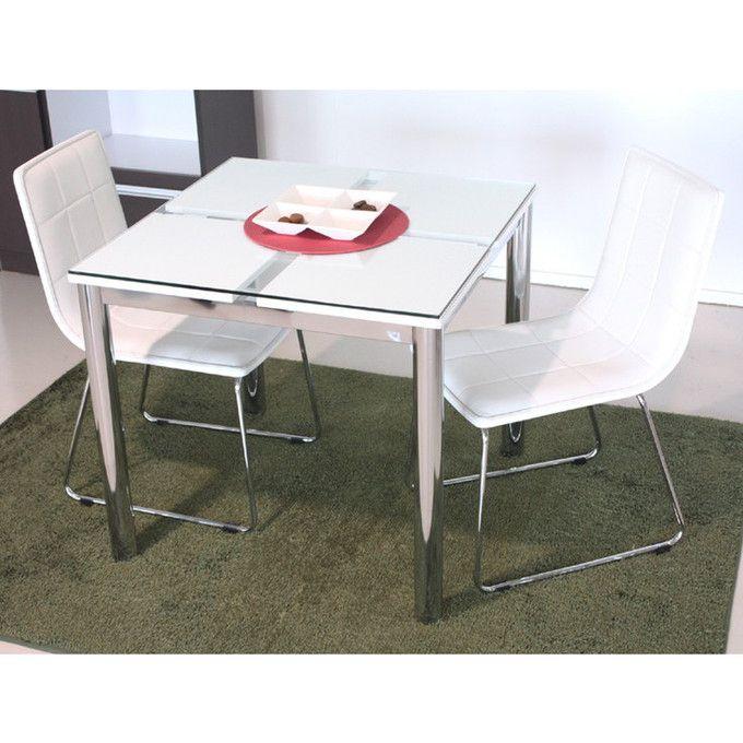 ダイニングテーブル 80 テーブル 80幅 正方形 ナチュラル シンプル モダンスタイル リビングテーブル 机 ガラステーブル シャープ ホワイト 白 2人掛け 食卓 モダン シンプル ナチュラル//