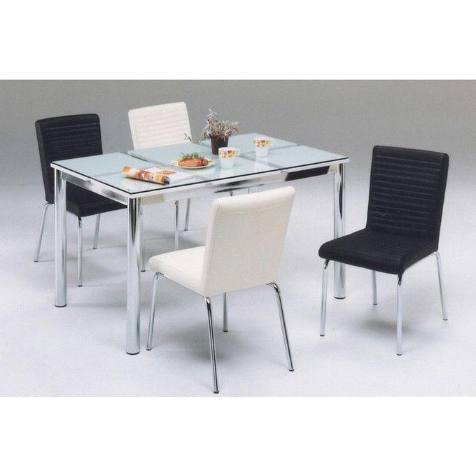ダイニングテーブル 130 テーブル ナチュラル シンプル モダンスタイル リビングテーブル 机 ガラステーブル シャープ ホワイト 白 4人掛け 食卓 モダン シンプル ナチュラル//