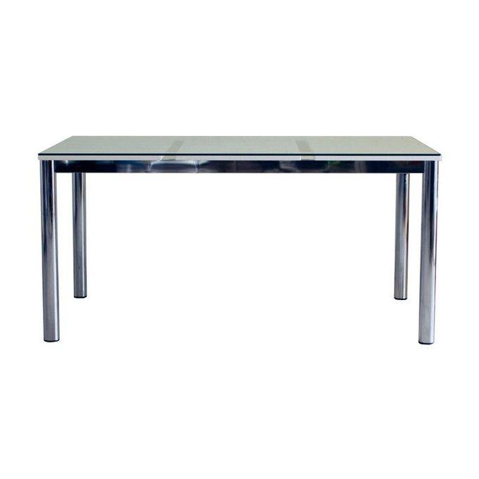 ダイニングテーブル 150 テーブル ナチュラル シンプル モダンスタイル リビングテーブル 机 ガラステーブル シャープ ホワイト 白 4人掛け 食卓 モダン シンプル ナチュラル//