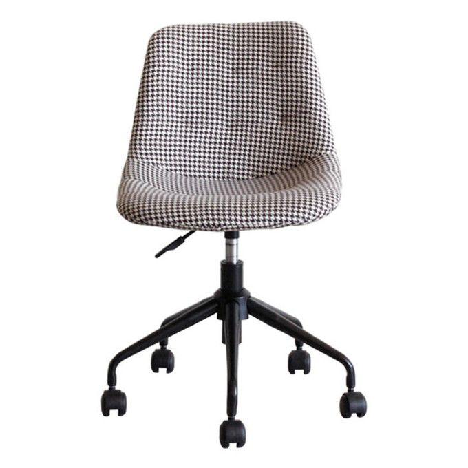 オフィスチェア デスクチェア チェア シェル型 パッチワーク張り オフィス家具 北欧 パソコンチェア レトロ モダン シンプル コンパクト 肘なし ワークチェア 椅子 イス chair モダン キャスター付き コンパクト 千鳥柄
