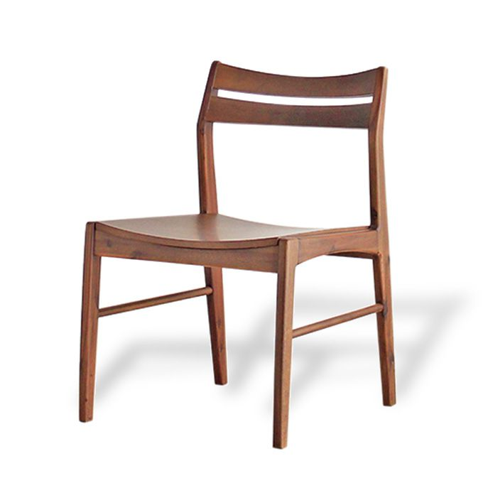 ダイニングチェア 無垢材 天然木 アカシア 低め ワイド 椅子 チェアー 1脚 シンプル カフェ ダイニング 単品 食卓椅子 イス 木製 いす デスクチェア オフィスチェア ナチュラル クッション 木脚 一人掛け 1Pチェア ミッドセンチュリーモダン