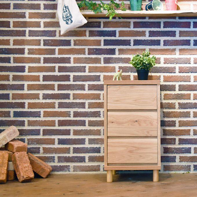 サイドチェスト タンス 北欧 ナチュラル 木製 3段 ベッドサイドチェスト サイドテーブル ローチェスト 国産 日本製 リビングチェスト たんす 引出 収納 天然木 スリムチェスト カントリー 幅40 新生活 デスクサイド ホワイトオーク