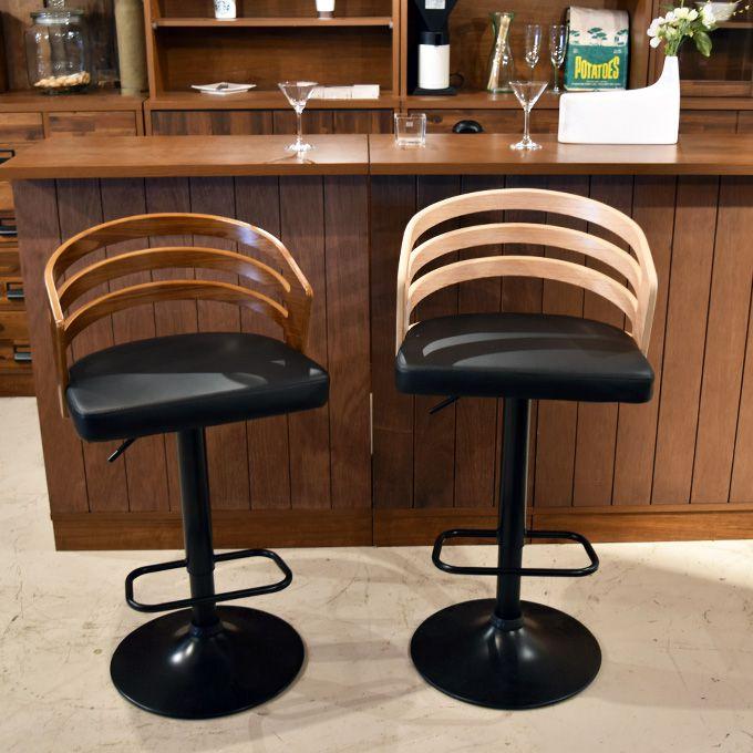 カウンターチェア バーチェア ハイチェア ベントウッド バーカウンターチェア イス チェア 木製 背もたれ付 北欧 曲木 シック カフェバーチェア