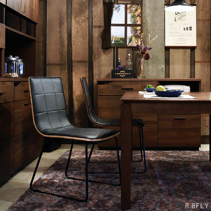 【2脚セット】チェア いす 椅子 イス セット アイアン ダイニングチェア オフィスチェア PCチェア 北欧 シンプル モダン オフィス家具 ミーティング 合皮 スチール PU素材 木製 ブラウン ナチュラル