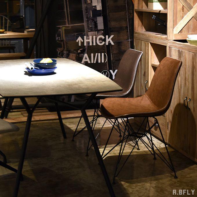 ダイニングチェア レトロ デスクチェア PCチェア ミッドセンチュリー アメリカン ブルックリン イームズ風 ワークチェア いす 椅子 イス ブラウン リビング 書斎 勉強 合皮レザー 革 ヴィンテージ調