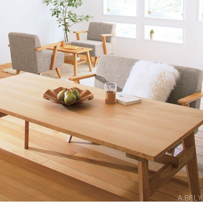 ダイニングテーブル 幅160cm ソファダイニング 高さ65cm テーブル 食卓 木製 ウッド ナチュラル ブラウン 天然木 アッシュ材 北欧テイスト シンプル 作業机 作業台 カフェテイスト//