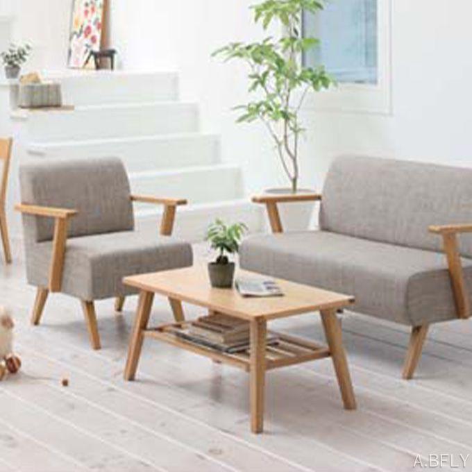 コーヒーテーブル ローテーブル リビングテーブル 幅80cm コンパクト テーブル 棚 収納 木製 ウッド ナチュラル ブラウン 天然木 アッシュ材 北欧テイスト シンプル カフェテイスト/