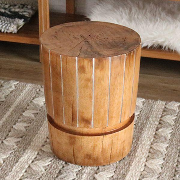 イス 椅子 スツール 玄関 天然木 木製 ハワイアン 南国 ナチュラル リゾート デザイン ハワイ プランテーションハウス カジュアル 自然/