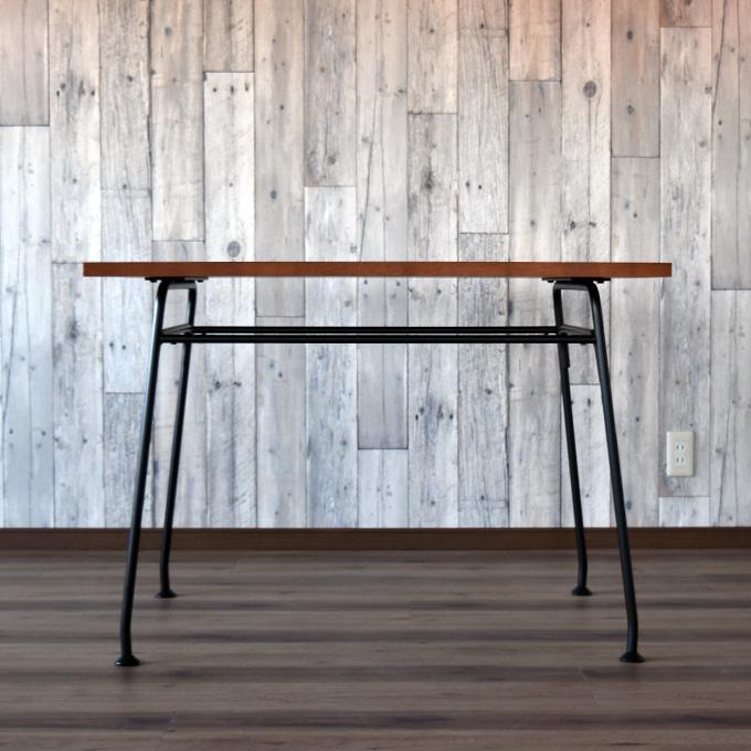 デスク ダイニングテーブル メープル 木製 アイアン 鉄脚 アンティーク調 北欧 作業台 カフェ アパレルショップ インダストリアル