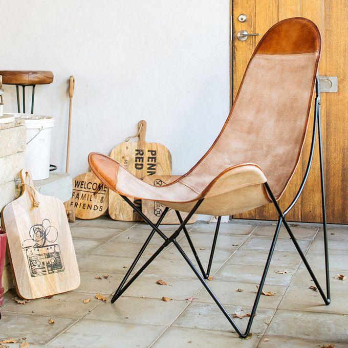 パーソナルチェアー バタフライチェア ハンモック リラックス イス 椅子 いす 北欧 カフェ 西海岸 シャビー ミッドセンチュリーモダン レトロヴィンテージ アンティーク インダストリアル アメリカン ブルックリン/