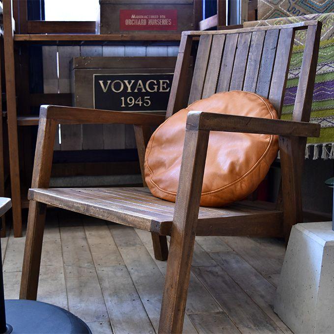 チェア 椅子 いす ゆったり座れる パーソナルチェアー 1人掛けチェアー 椅子 リラックス 1人用 シャビー家具 古木製 リサイクルウッド アンティーク家具 アンティーク雑貨 北欧風 レトロ モダン マリン