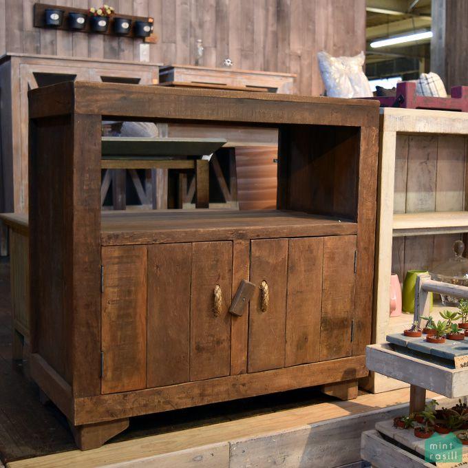 カップボード キャビネット キッチン収納 テレビボード 電話台 古木製 シャビー家具 リサイクルウッド アンティーク家具 北欧風 レトロ モダン アジアン
