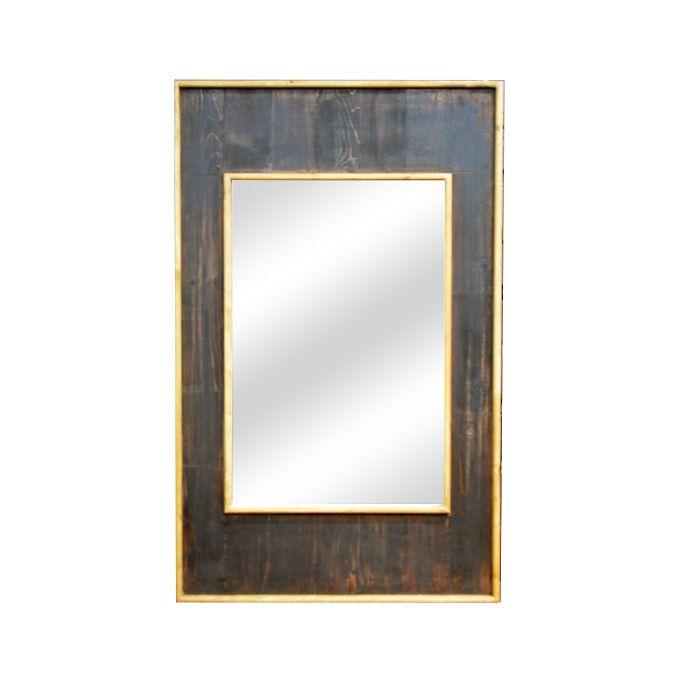 壁掛けミラー 鏡 アンティーク風 長方形 アンティーク家具雑貨 シャビー雑貨 玄関 リビング カフェ 北欧風 レトロ モダン マリン