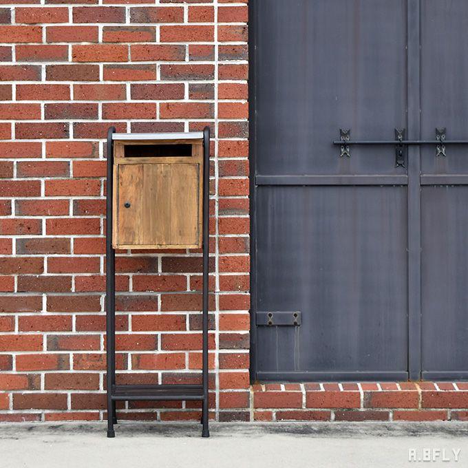ポスト 鍵付き 郵便受け 置き型ポスト 郵便ポスト スタンドタイプ スタンド 宅配ボックス 一戸建て用 大容量 新聞受け 北欧 スタンドポスト フラワースタンド レトロ アイアン 鉄 アンティーク ヴィンテージ スチール 木製 メールボックス