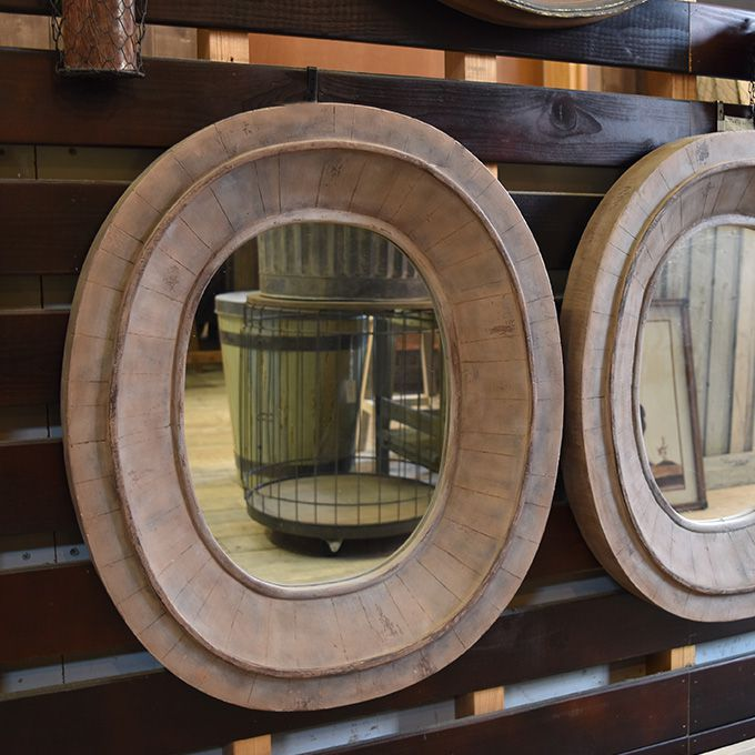 壁掛けミラー 鏡 アンティーク風 楕円 アンティーク家具雑貨 シャビー雑貨 玄関 リビング カフェ 北欧風 レトロ モダン マリン