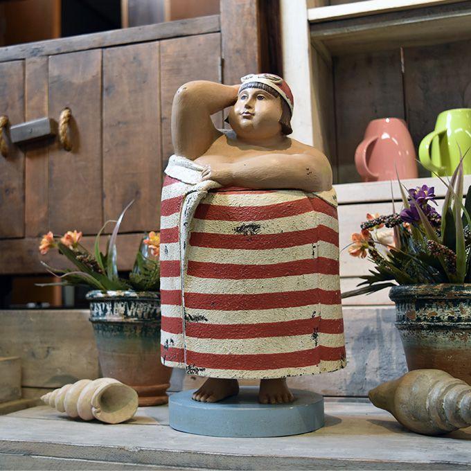 置物 ビーチマダム ドロワーボックス 小物入れ おもしろ雑貨 個性的 マリン雑貨 飾り 海 プール ビーチ フレンチ 船 水着 人形 アンティーク家具雑貨 カフェ 北欧風 レトロ モダン マリン