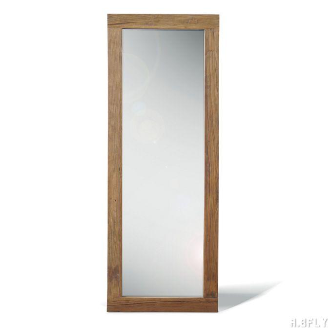 壁立てかけ ミラー 鏡 木製 大型 壁掛け 立てかけ 全身 全身鏡 姿見 ウォールミラー スタンドミラー 古材 デザイン インダストリアル 店舗什器 カフェ ディスプレイ ナチュラル ビンテージ アンティーク カントリー ヴィンテージ インテリア 人気 シンプル おすすめ