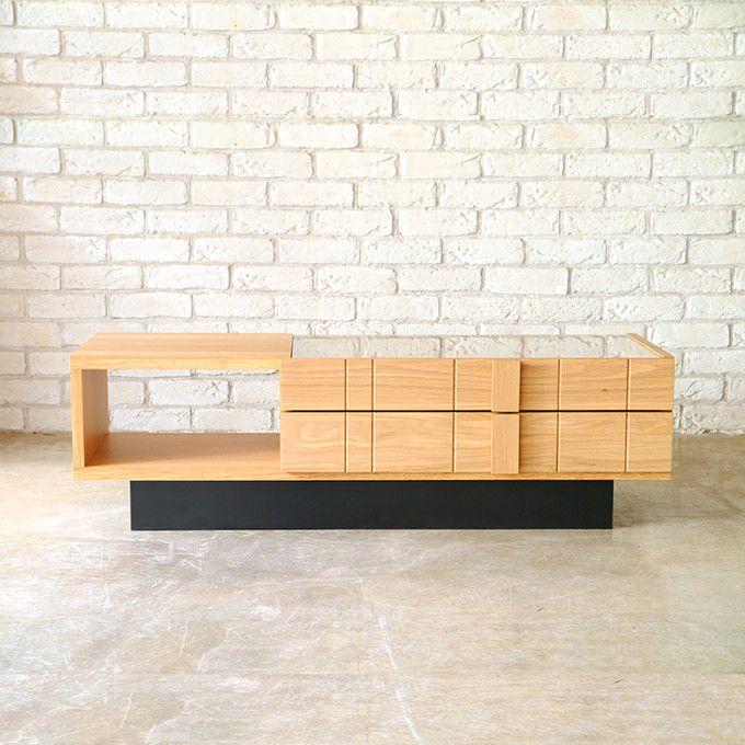 リビングテーブル センターテーブル ローテーブル コレクション テーブル ダイニングテーブル カフェ コーヒーテーブル ガラス天板 日本製 国産 木製 オーク材 天然木 収納 モダン シンプル 北欧 ナチュラル シック/