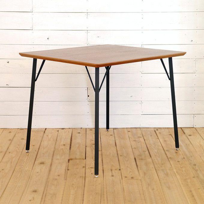 ダイニングテーブル テーブル 食卓 リビングテーブル 木製 アイアン ウォルナット ウォールナット モダン シンプル インダストリアル シック ナチュラル スリム 北欧 カントリー カフェ 素朴 作業台 コンパクト 省スペース 1人暮らし