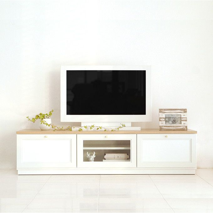 テレビボード リビングボード TV台 ローボード AV機器収納 DVDラック テレビラック テレビ台 AVボード TVボード AV収納 サイドボード 木製 国産 日本製 清潔感 ホワイト 白 カントリー 北欧 モダン シンプル ナチュラル/