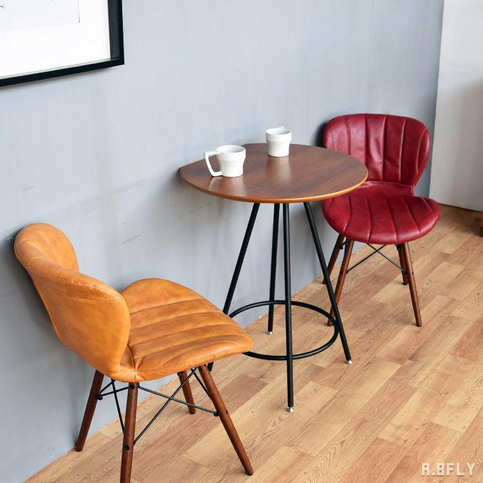 半円テーブル カフェテーブル 2人用 二人 円卓 半円形 ラウンジテーブル ダイニングテーブル 省スペース 食卓テーブル オーク材 木製 スチール脚 ブラウン ナチュラル シンプル 北欧 ミッドセンチュリーモダン 西海岸 カフェ